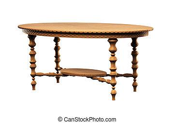 桌子, 在上方, 3d, 白色, 被隔离