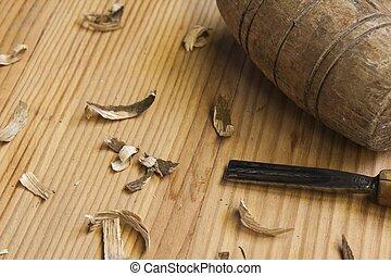 桌子, 木頭, 木匠, 工具, 背景