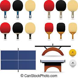 桌子, 矢量, 集合, 網球