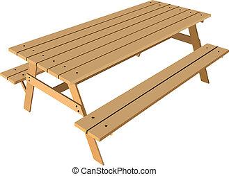 桌子, 長凳, 標准