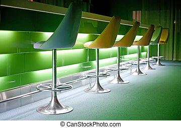 椅子, 光, 行, 綠色