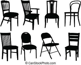 椅子, 矢量, -, 彙整