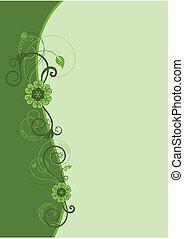 植物群的設計, 2, 邊框, 綠色
