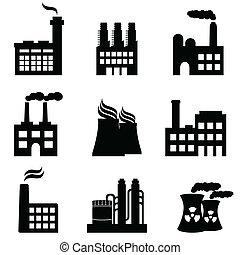 植物, 工厂, 工業, 力量, 建筑物