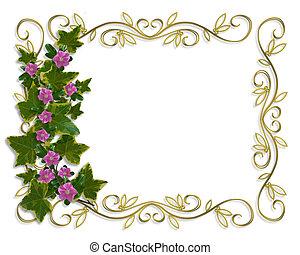 植物, 常春藤, 邊框, 設計