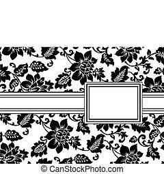 植物, 框架, 矢量, 帶子
