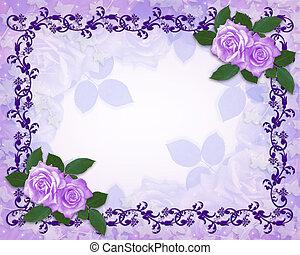 植物, 玫瑰, 邊框, 淡紫色