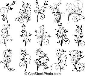 植物, 矢量, 設計元素