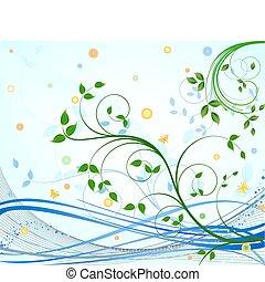 植物, 矢量, 設計