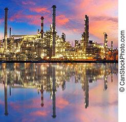 植物, 石油化學產品, 反映, 气体精煉厂, 油, 工廠