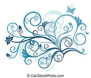 植物, 綠松石, 設計元素