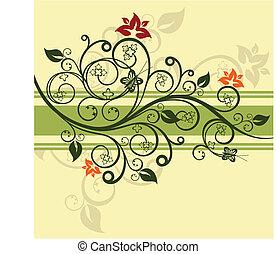 植物, 綠色, 矢量, 設計, 插圖