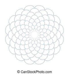 植物, 裝飾, 環繞, pattern., 摘要