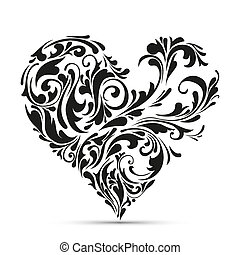 植物, heart., 抽象 概念, 愛