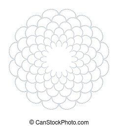 植物, pattern., 環繞, 裝飾, 摘要