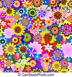 植物, (vector), 圖案, 摘要, seamless