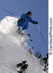 極端, skier.