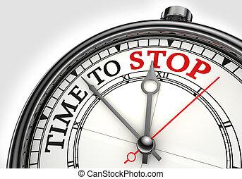 概念, 停止, 時間鐘