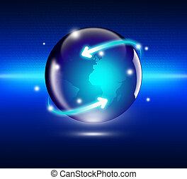 概念, 全球的商務, 網際網路
