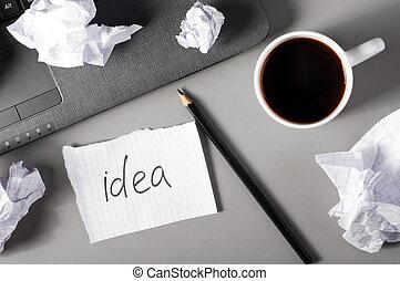 概念, 創造性, 事務