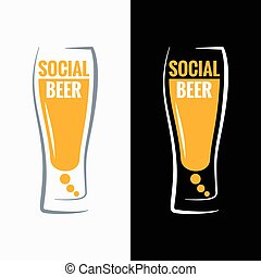 概念, 媒介, 玻璃, 啤酒, 背景, 社會