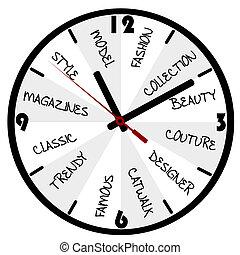 概念, 時裝, 鐘