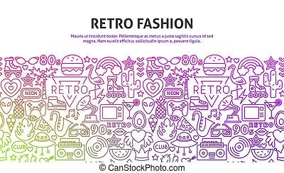 概念, 時裝, retro