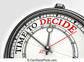 概念, 時間, 決定, 鐘