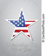 概念, 第4, 美國人, 七月, 天, 獨立