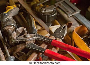 概念, 老, 木材加工, 葡萄酒, 彙整, 技能, workbench:, 工具, 手工, 木工工作