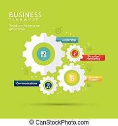 概念, 齒輪, 商務圖標, 插圖, 配合