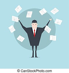 概念, work., 成功, paper., 商人, 投擲