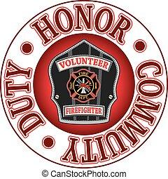 榮譽, 志願者, 義務, 消防人員