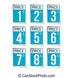 標籤, 價格, 矢量, 標簽, 集合