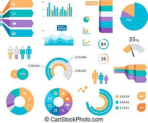 標籤, 矢量, 圖表, infographics, 圖象