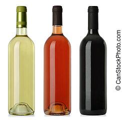 標籤, 空白, 酒瓶子, 不