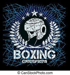 標籤, grunge, 拳擊, 背景