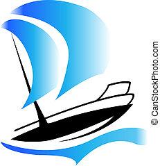 標識語, 小船