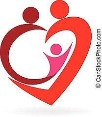 標識語, 心, 愛, 家庭