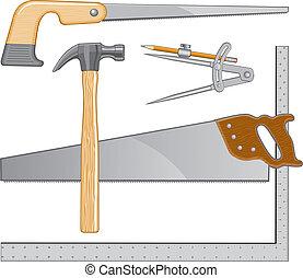 標識語, 木匠, 工具
