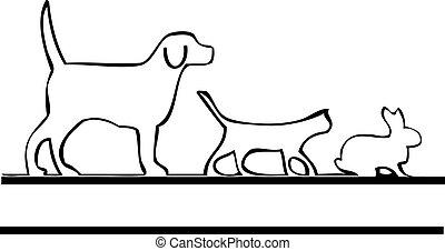 標識語, 步行, 寵物