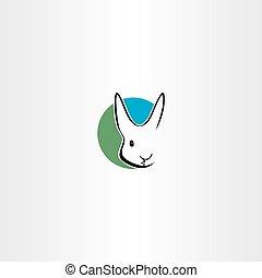標識語, 符號, 矢量, 設計, 兔子