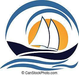 標識語, 設計, 游艇, 小船