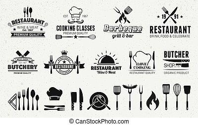 標識語, 設計, 葡萄酒, 元素, 19, 模板, 9, 食物