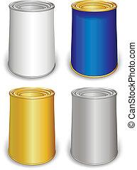 樣板, 上色, 錫罐