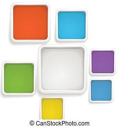 樣板, 顏色, 正文, 摘要, boxes., 背景