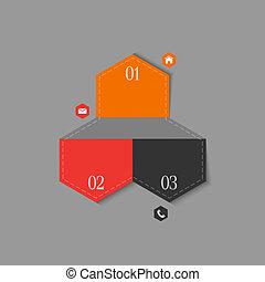 樣板, infographics, 時髦, 設計