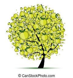 樹, 你, 蘋果, 設計, 能量