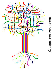 樹, 地鐵