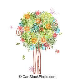 樹, 摘要設計, 蔓藤花紋
